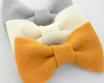 BOW Collection: Fall Trio Felt Bow Hair Clips