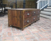 T.V. Media console handcrafted from RECLAIMED Cedar Wood
