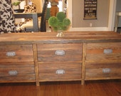T.V. Media Entertainment Console Handcrafted from Reclaimed Wood - Reserved for World Wide Pants
