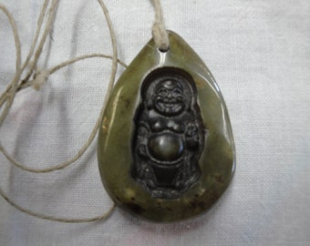 jade stone buddah hemp necklace