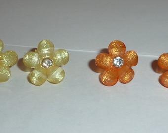 Colorful Flower Stud Earrings