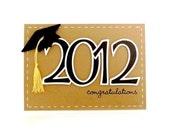 Kraft 2012 Graduation Card - 'Congratulations' - Handmade Greeting Card