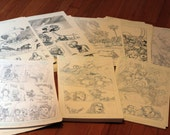 Original comic art grab bag.  Two random pages from Deadpool Team-up and X-men: To Protect and Serve