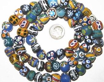 Nice Ghana Handmade African Recycled glass Beads