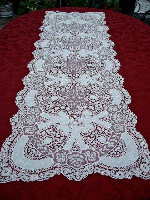 Stunning Antique Brussels Mixed Lace Panel, Large, Duchesse Lace, Embroidery