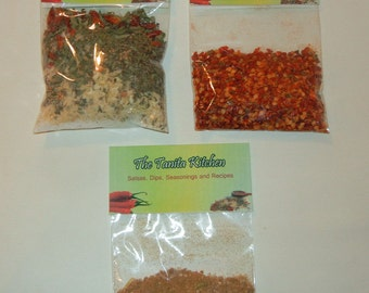 salsa, Dip Seasoning Mixes, Pappa's Game Day Party Pack, dips and spread mixes