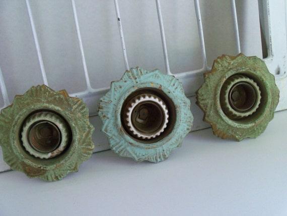 Antique Lighting Rosette Sockets Industrial Architectural Art Steampunk