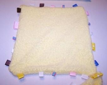Yellow Handmade Nappie with Ribbons a  jrdonodesign original design