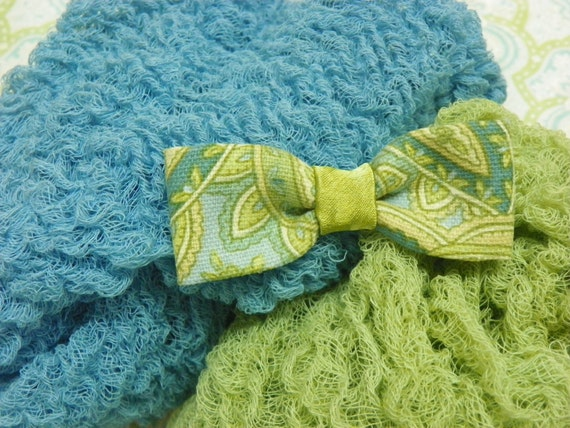 Hand Dyed Cheesecloth Wraps and Baby Boy Bow Tie Set...Photography Props...Baby Boy Photo Props