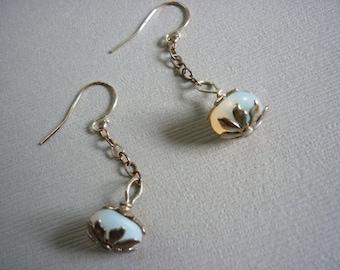 lovely organic dangle earrings