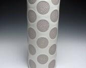 White Sunflower Vase