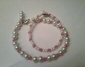 Pink, Pearl Bracelets - Mommy & Me