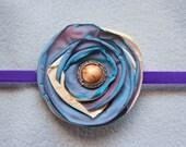 Flower Headband - Purple and Blue Flower Baby Headband