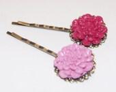 Jewellery - chrysanthemum hair slides