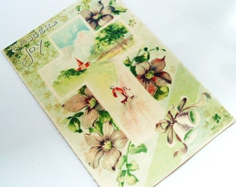Easter postcard gorgeous unused Edwardian card