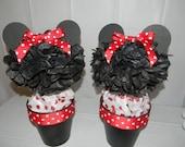 Minnie Mouse Pom Pom Centerpieces