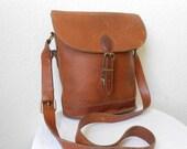 Honey Brown EDDIE Bauer Leather Satchel Bag