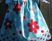 infant /toddler girls spring floral pillowcase dress