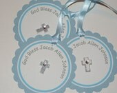 Baptism Christening Thank You / Favor Tags for Boy