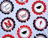Graduation Cupcake Toppers Set of 24