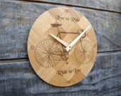 Live to Ride Wall Clock for the Home or Office