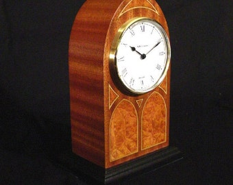 Mantle Clock traditional with cathedral windows.  MC-11  Free Shipping.