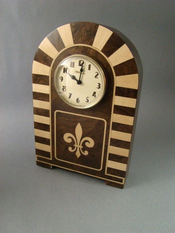 Mantle Clock with art deco design  MC11 with Free Shipping.