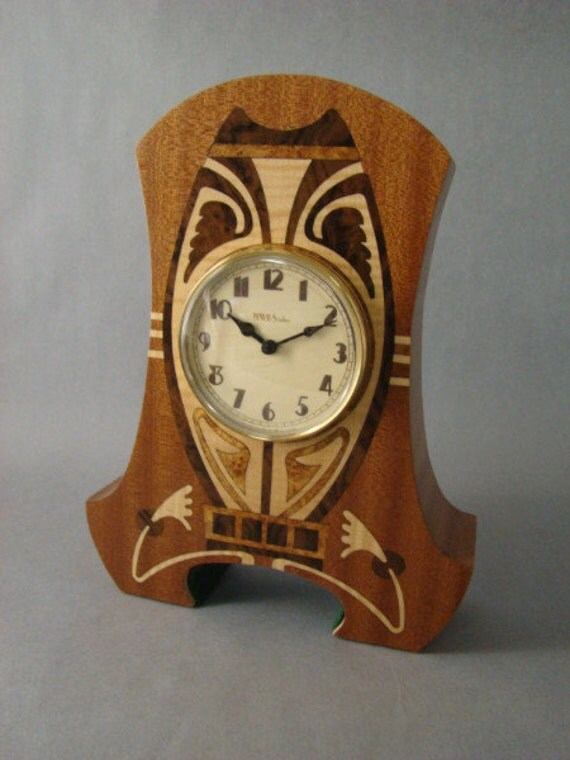 Mantle Clock  with Art Deco/Nouveau theme. MC30  With Free Shipping.