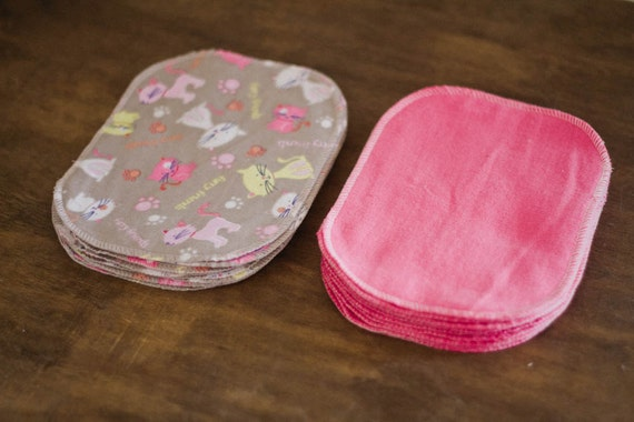 Cloth Wipes - 20 Cats Set - Eco Friendly Reusable Cloth Wipes