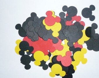 Mickey Mouse Specialty Confetti  Yellow Red Black Birthday Party