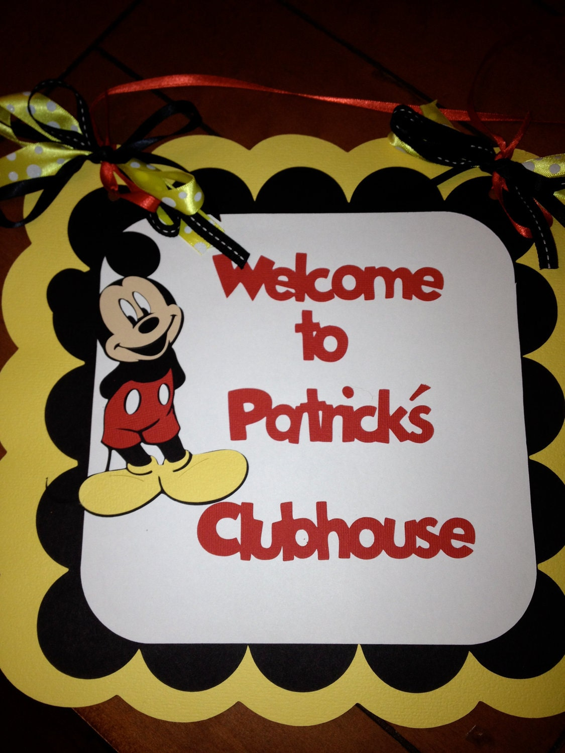 Mickey Mouse Party Sign Welcome To The Birthday Clubhouse