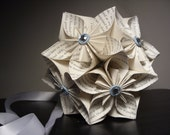 Twilight Text Kusudama Origami Paper Flower Ball - Party, Decoration, Wedding, Gift