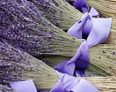 Dried Lavender Flower Bunches with Ribbon  8x12 Original Fine Art Photography Print