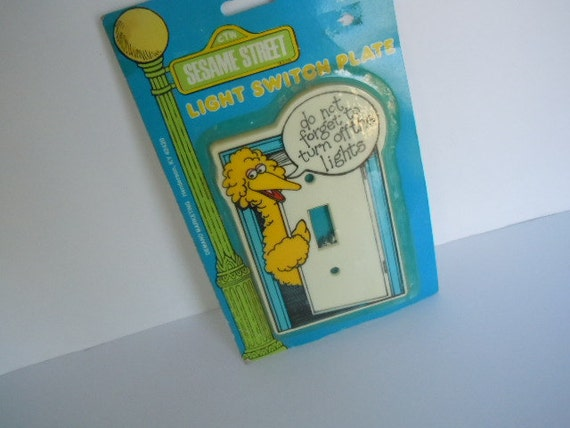 Sesame Street 'Big Bird' Light Switch Plate