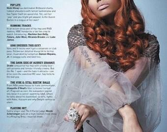 Clear Swarovski Crystal Ring as seen on Nicki Minaj Vibe Magazine cover Feb/Mar 2012