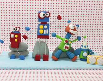 Its a Robot party Cake Topper