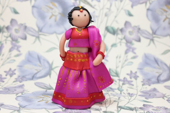 Cute Indian Bride Cake Topper