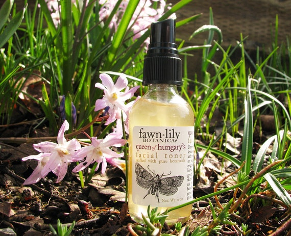 Organic Queen of Hungary's Facial Toner - made from Botanicals
