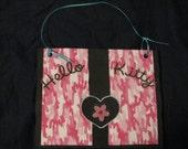 Hello Kitty Purse greeting birthday card cupcake hot pink handbag card
