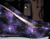 Galaxy Wedges (Painted Heels) - MADE TO ORDER