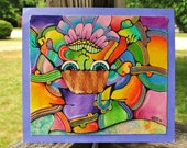 Mr. Plant Man - ORIGINAL - Reversible Trippy Art