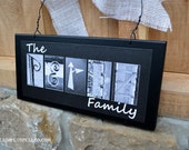 Personalized Black Wood Alphabet Photography Family Wall or Door Hanging