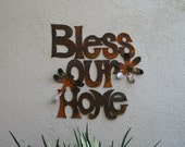 Wall Art Metal Bless Our Home Wall Hanging