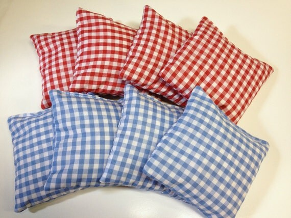CUSTOM Cornhole Bags, 8pc, YOU Pick ANY Colors/Pattern/Fabric/Print
