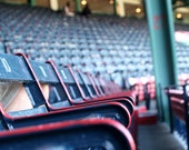 Rows of Field Box Seats, 100 Years, Historic Fenway Park, Empty Stadium, Boston Travel 5x7 Detail Photograph - LoudWaterfallPhoto