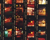Los Angeles City Center, Chinatown At Night Contact Sheet, Multi Image 8.5x11 Urban Travel Fine Art Photograph - LoudWaterfallPhoto