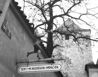 Toy Museum, Hracek, Shop Sign,Czech Republic, International Travel,  Prague 8x8 Fine Art Photograph