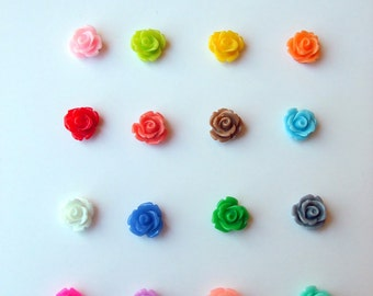 Resin Rose Earrings- Extra Small