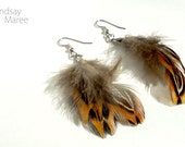Reserved for LoveOfCharms- Pheasant Feather Earrings (Hypoallergenic)