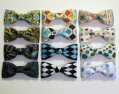 Three Bow Ties - Double as Hair Bows - For Girls or Boys